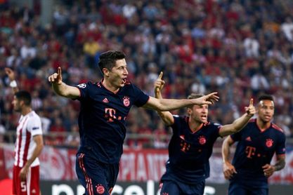 2-3. El Bayern gana con doblete de Lewandowski