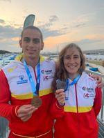 Llorente y Vilarrubla, oro y plata en la prueba del canal olímpico de Tokio
