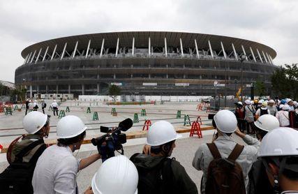 Completan la construcción del nuevo estadio olímpico de Tokio 2020
