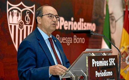 José Castro, durante el acto de los Premios Blázquez.
