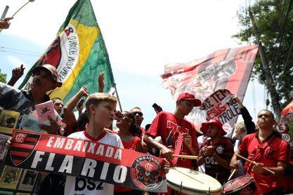 Flamengo realiza su último entrenamiento en Brasil antes de viajar a Catar