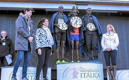 Imagen del podio internacional masculina de la pasada edición del Cross de Itálica.