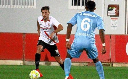 Imagen de un partido del Sevilla Atlético esta temporada.