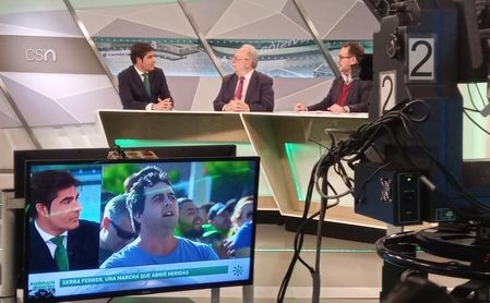 Haro, en el programa Andalucía Deportes de Andalucía Televisión.