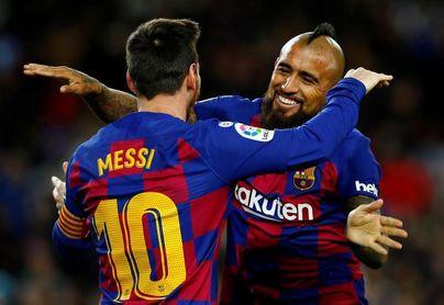 Un lujo de Arturo Vidal en el gol de Messi