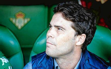 Rubi, técnico del Real Betis, en el partido ante la Real Sociedad.
