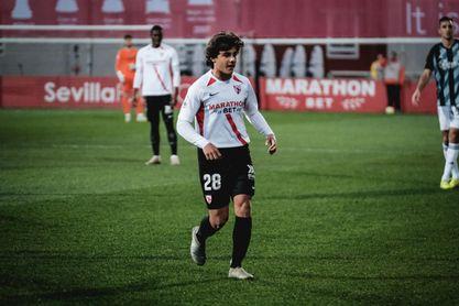 Carlos Álvarez, durante el último partido del Sevilla Atlético.