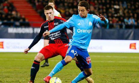 El francés durante un encuentro con su actual club, el Olympique de Marsella.
