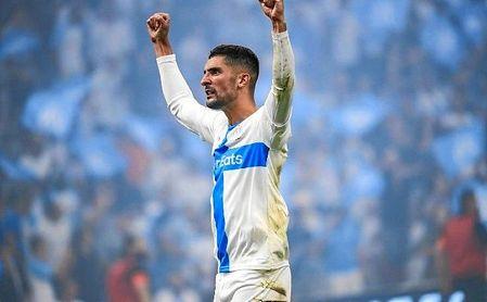 Álvaro Gónzález, en un partido con el Marsella esta temporada.