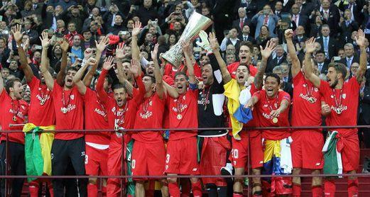 El Sevilla FC conquista la Europa League en Varsovia en 2015.