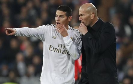 James carga contra el Madrid, Florentino y Zidane