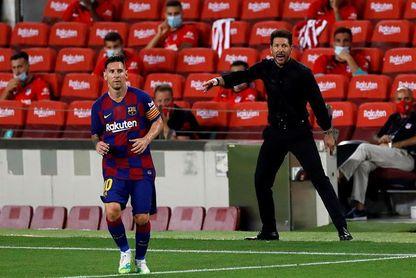 """Simeone: """"El equipo jugó el partido que se habló y se entrenó"""""""
