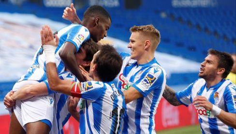 2-1. La Real remonta y empuja más al Espanyol al descenso