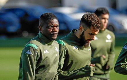Carvalho, durante un entrenamiento verdiblanco.