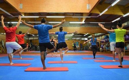 Yoga, relajación durante las vacaciones.
