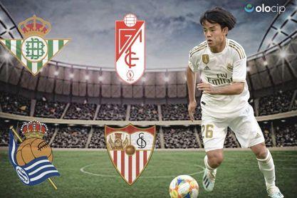 Así rendiría Kubo en el Sevilla FC y en el Betis según la IA.