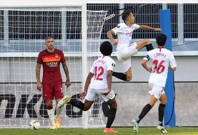 Sevilla F.C.-Roma: partido en directo, resultado y crónica.