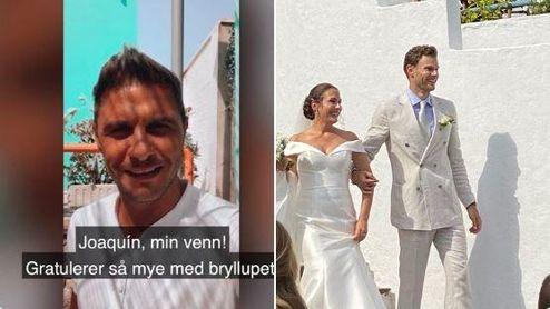 Joaquín, la sorpresa en la boda noruega de su mayor fan.
