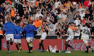 Piccini, en la prolongación, resolvió el único Valencia-Huesca en Mestalla