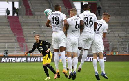 El Dortmund cae ante un rocoso y disciplinado Augsburgo