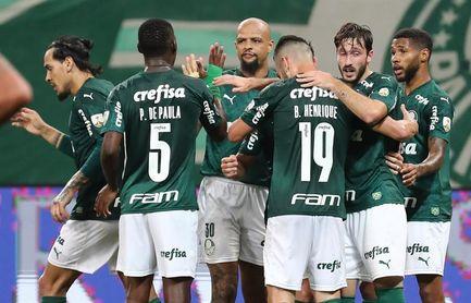 5-0. Palmeiras golea, garantiza la clasificación y deja al Bolívar en el abismo