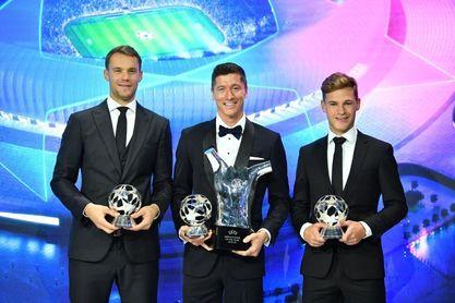 El Bayern domina los premios a los mejores de la Liga de Campeones