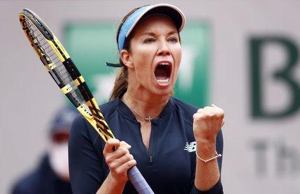 Collins, entrenada por Almagro, última cuartofinalista de Roland Garros