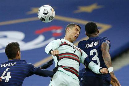 0-0. Francia y Portugal empatan en intensidad y en orden defensivo