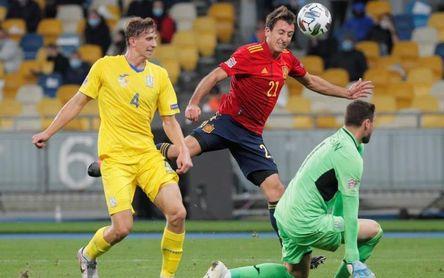 1-0. Ucrania castiga la falta de gol