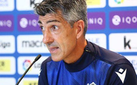 Imanol Alguacil, durante la rueda de prensa previa al encuentro frente al Betis.