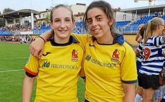 Las verdinegras Lea Ducher y Blanca Ruiz, con la selección española.