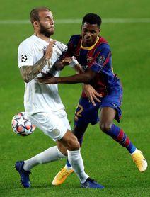 """Ansu Fati: """"Los compañeros me lo ponen fácil para hacer gol"""""""