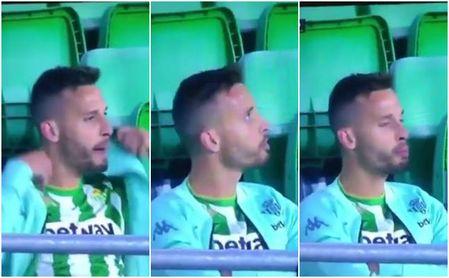 Las cámaras pillan a Canales 'jurando en arameo' en el Betis-Real Sociedad