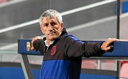 Quique Setién, durante su etapa como entrenador del FC Barcelona.