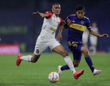 3-0. Boca golea al Caracas y lo priva de una clasificación a octavos de final