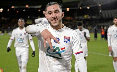 Rayan Cherki, joven estrella del Lyon.