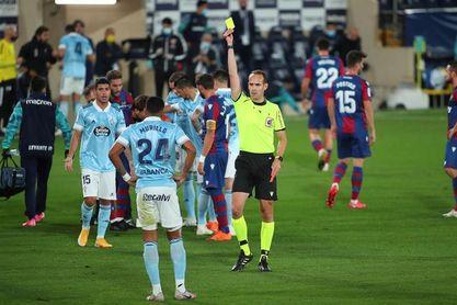 1-1. Levante y Celta plasman su mal momento con polémica de VAR incluida
