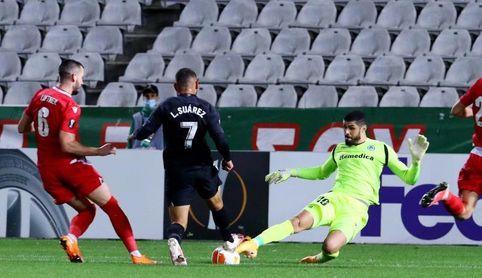 0-2. Yangel Herrera y Luis Suárez mantienen como líder al Granada