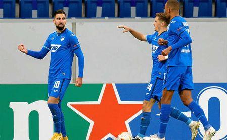 Dabbur celebra uno de los goles marcados ante el Slovan Liberec.