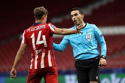 Llorente, titular en el Atlético; el Cádiz apuesta por Augusto