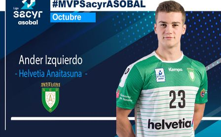 Ander Izquierdo, de Helvetia Anaitasuna, MVP de octubre.