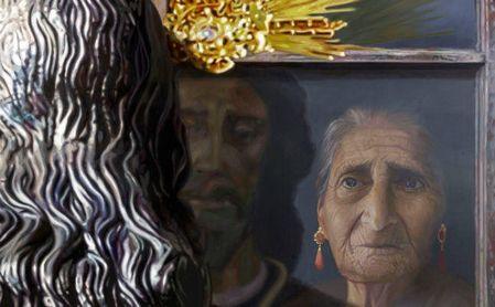 Fragmento del espectacular y emocionante cartel de Santa Genoveva por su 75º aniversario.