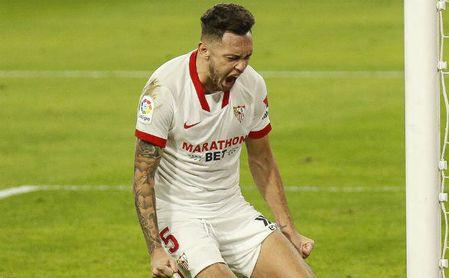 Los extranjeros sevillistas han marcado seis de los siete goles ligueros.