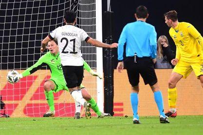 3-1. Alemania sufre ante una mermada Ucrania y gana con un doblete de Werner