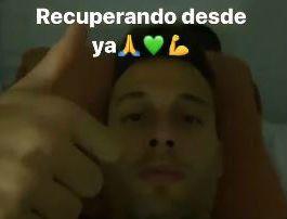 Canales publicó un vídeo en la cámara hiperbárica.