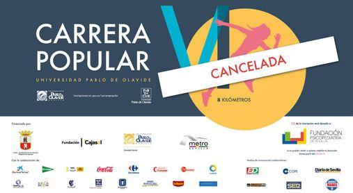 La Universidad Pablo de Olavide cancela su VI Carrera Popular.