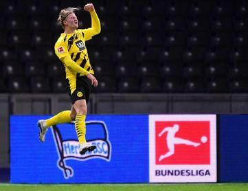 Haaland, poker del chico de oro que dispara al Dortmund