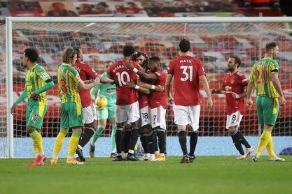 El United derriba al débil West Brom