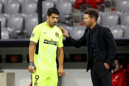 Simeone no descarta a Luis Suárez contra el Bayern