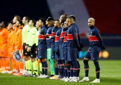 Los jugadores del PSG y del Estambul Basaksehir enviarán un mensaje contra el racismo antes del partido